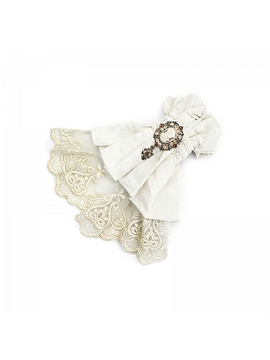 Steampunk Jacquard Cotton and Linen Lace Bow Tie by Devil Fashion