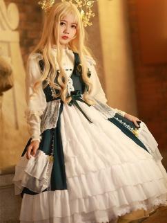Temple Aria V-neck Elegant Lolita Dress JSK by Aurora Kiss