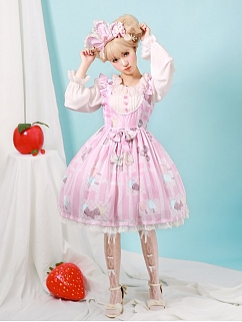 Rainbow Frosting Square Neckline Sweet Lolita Dress JSK by Aurora Kiss