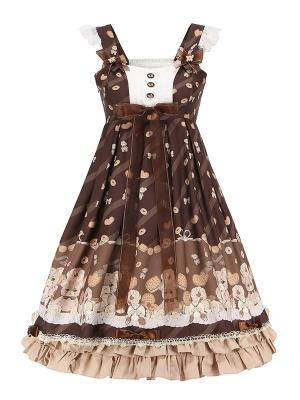 Cookie Ceremony Square Neckline Sweet Lolita Dress JSK by Aurora Kiss