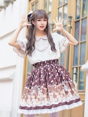 Cookie Ceremony Elastic Waist Sweet Lolita SK by Aurora Kiss