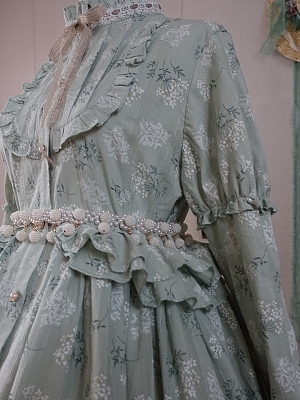 Miss Village Chief Elegant Dress Matching Waist Chain by Another Walker Lolita