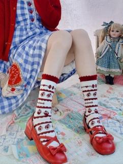 Sweet Strawberry Lolita Stockings