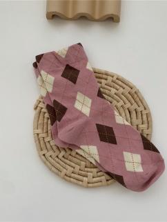 Pink Diamond Lattice Lolita Stockings