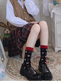 Cherry Bunny JK Cotton Lolita Stockings