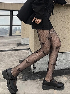 JK Sexy Heart-shaped / Five-pointed Star Fishnet Lolita Tights