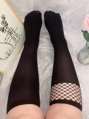 Plus Size Velvet JK Asymmetrical Lolita Stockings
