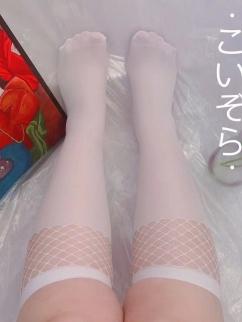 Plus Size Velvet White Lolita Stockings