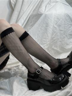 Punk JK Lolita Fishnet Stockings
