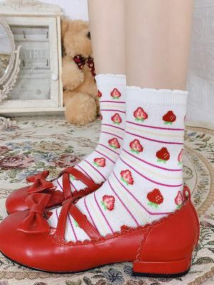 Cute Strawberry Lolita Socks
