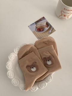 Big Head Bear JK Lolita Stockings