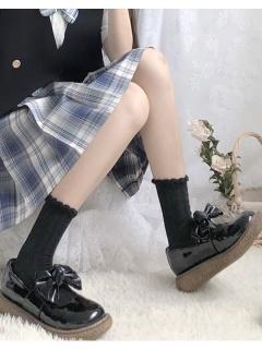 JK Cute White / Black Lolita Stockings