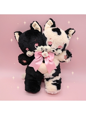 Ready to Ship - Double Heads Kitty Plush Bag by Bully Bunny