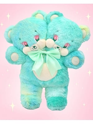 Ready to ship - Mint Color Double Heads Bear Plush Bag by Bully Bunny