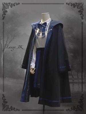 Astrologer Long Hooded Cape / Short Skirt Set