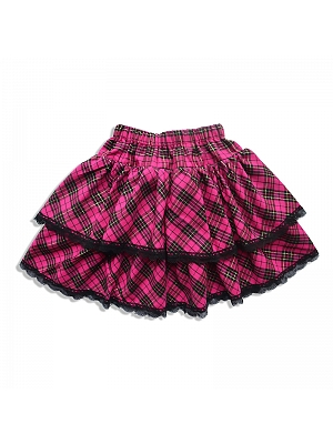 Punk Plaid Tiered Skirt by Alita 26SS
