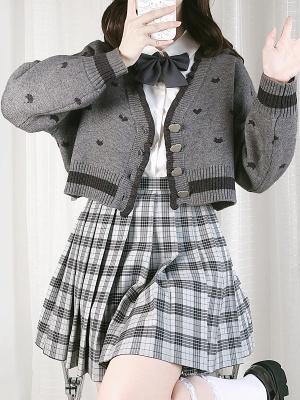 Peekaboo Game JK V-neck Long Sleeves Short / Long Cardigan