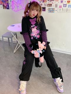 Plus Size Teddy Ears Hoodie / Long Pants Set by Hard Candy