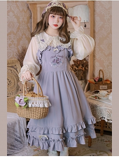 Plus Size French Rose Pointed Collar Lolita Shirt