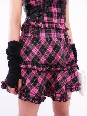 Angel of Love Punk Harajuku Set Plaid Skirt by KOKORI