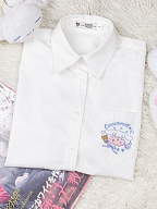 Sanrio Authorized Cinnamoroll JK Uniform Long Sleeves Pointed Collar Shirt by KYOUKO