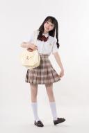 Sanrio Authorized Pompompurin JK Uniform Striped Shirt by KYOUKO