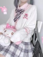 Sanrio Authorized JK Uniform V-neckline Knitted Cardigan by KYOUKO
