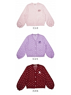 Sanrio Authorized Heart Shaped Buttons V-neckline Knitted Cardigan by KYOUKO