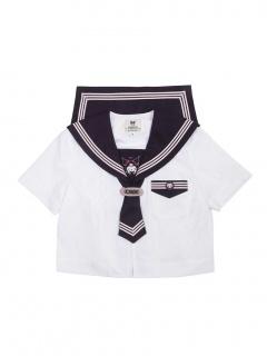 Sanrio Authorized Kuromi JK Uniform Sailor Collar Short Sleeves Shirt