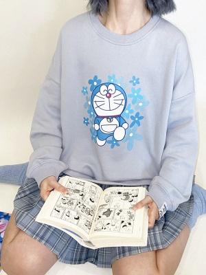 Doraemon Authorized Cute Loose Sweatshirt by No Worries