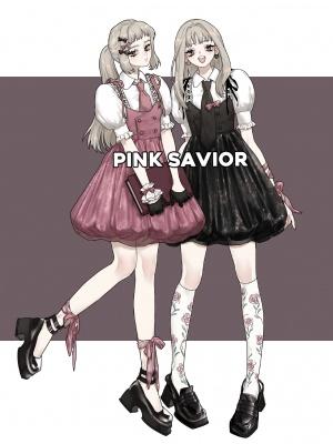 Thorn Rose Turndown Collar Short Puff Sleeves Shirt / Cami Dress Set by PINK SAVIOR