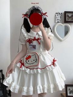 Be My Cat Lolita Dress Matching Apron by Sleepy Doll