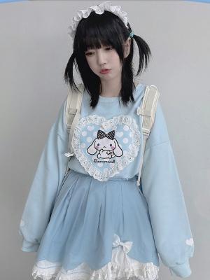 Sanrio Authorized Cinnamoroll Prints front Sweatshirt by MiTang Baby