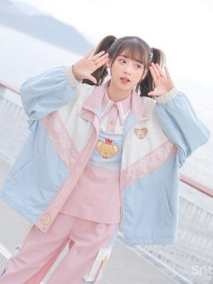Card Captor Sakura Authorized High Neck Zipper Jacket by Mori Tribe