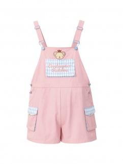 Card Captor Sakura Authorized Cerberus Pink Overall Shorts by Mori Tribe