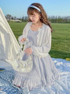 Disney Authorized Alice in Wonderland V-neckline Knitted Cardigan by Mori Tribe