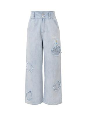 Disney Authorized Alice in Wonderland Denim Pants by Mori Tribe