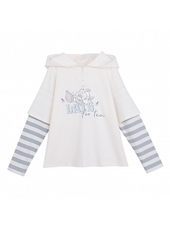 Disney Authorized Alice in Wonderland Fake Two-piece Design Hoodie by Mori Tribe