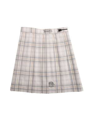Disney Authorized Alice in Wonderland The White Queen Pleated Skirt JK Uniform Skirt