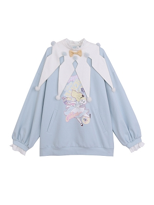 Disney Authorized Alice in Wonderland Round Neckline Sweatshirt