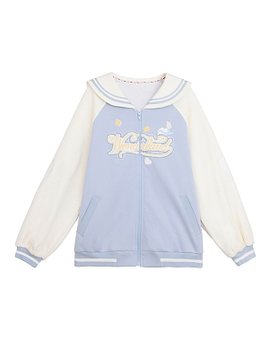 Disney Authorized Alice in Wonderland Sailor Collar Zipper Outerwear