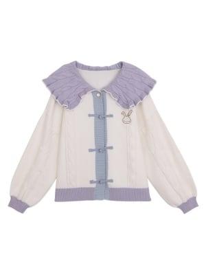 Madhouse Authorized Card Captor Sakura Purple Collar Knitted Cardigan