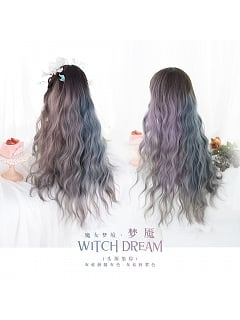 Dyed Gradient Long Curly Synthetic Lolita Wig by Alice Garden