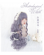 Grayish Purple Long Curly Synthetic Lolita Wig by Alice Garden