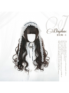 Chocolate Princess Cut  Long Curly Synthetic Lolita Wig by Alice Garden