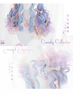Straight Bangs Long Ponytail Curly Synthetic Lolita Wig by Alice Garden