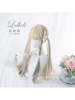 Gradient Long Curly Synthetic Lolita Wig by Alice Garden