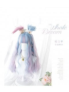 Candy Color Long Double Ponytail Curly Synthetic Lolita Wig by Alice Garden