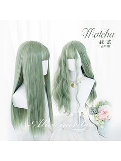 Matcha  Long Curly/Straight Synthetic Lolita Wig by Alice Garden