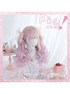 Candy Pink Long Roman Roll Synthetic Lolita Wig by Alice Garden